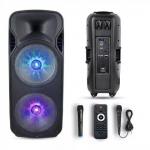 150W Prijenosni Bluetooth zvučnik s 2 mikrofona i daljinskim upravljačem, 2200 mAh