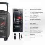 35W RGB Prijenosni Bluetooth zvučnik s mikrofonom i daljinskim upravljačem, 2200 mAh 1