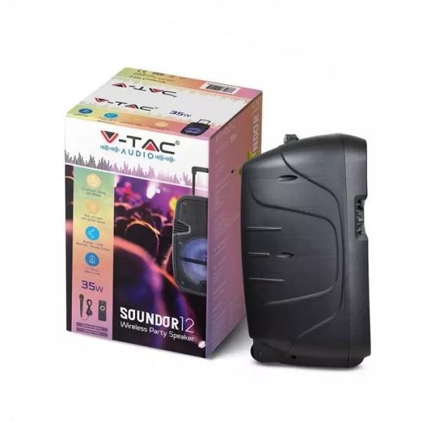 35W RGB Prijenosni Bluetooth zvučnik s mikrofonom i daljinskim upravljačem, 2200 mAh