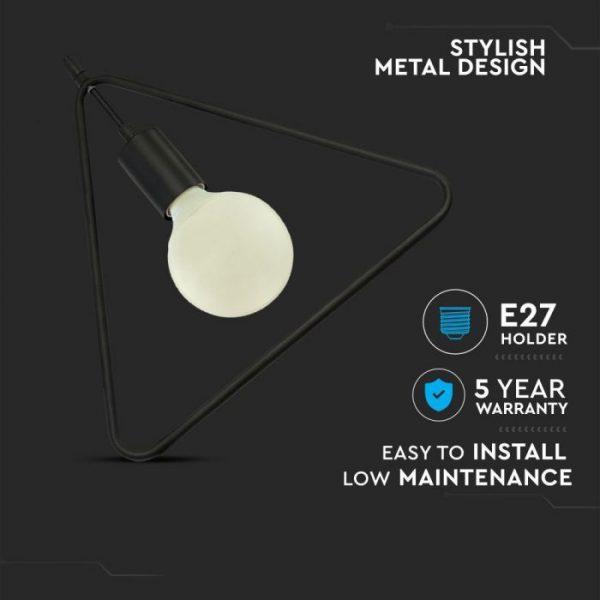 Geometrijska visilica - crna
