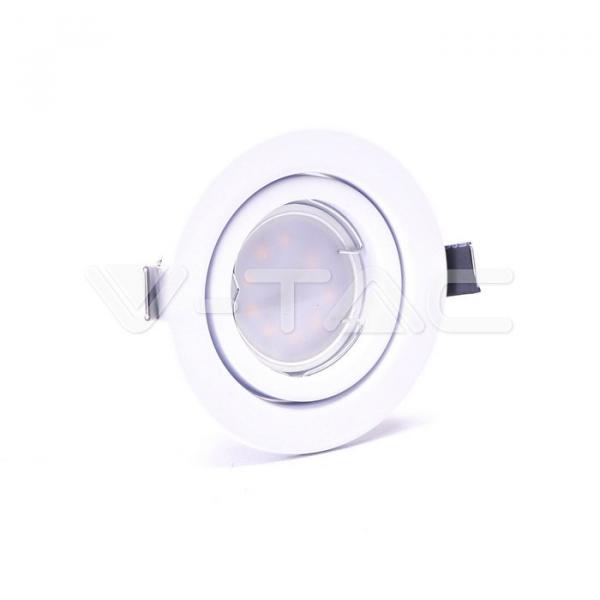 LED spot žarulje s kućištem - 5W GU10 SMD bijelo kućište 4000K 3kom/pak