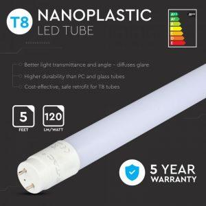 LED cijev SAMSUNG ČIP - 150cm 22W G13 Nano plastika 6400K - 5 GODINA GARANCIJE