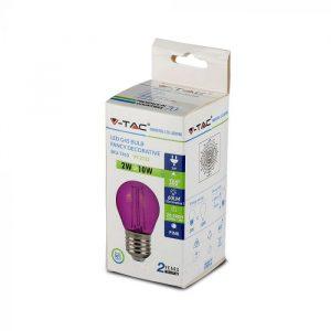 LED žarulja - 2W filament E27 G45, ružičasta boja