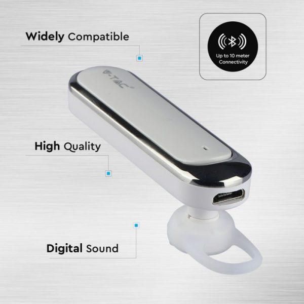 Headset - Bluetooth slušalica 170mAh, bijela