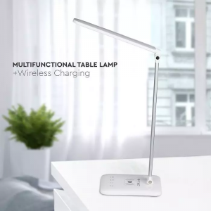 7W LED stolna lampa s bežičnim punjenjem 3 u 1, bijela