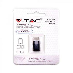 Adapter - Micro USB na Type C, crni