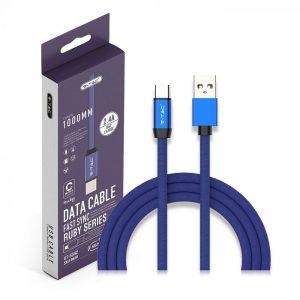 USB tip C kabel duljine 1M, Ruby serija, plavi