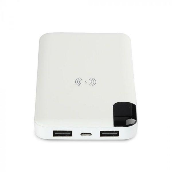 8000 Mah Power Bank sa digitalnim ekranom i postoljem, bežično punjenje, bijeli