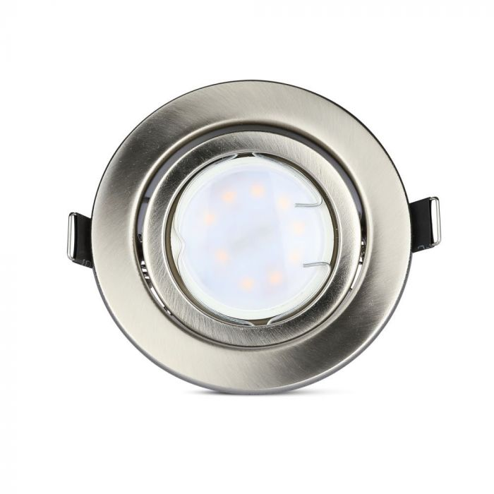 LED spot žarulje s kućištem - satin nikal 5W GU10 SMD 4000K 3kom/pak