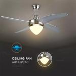 Dekorativni ventilator s LED osvjetljenjem i daljinskim upravljačem 15W, 3u1, AC motor 60W