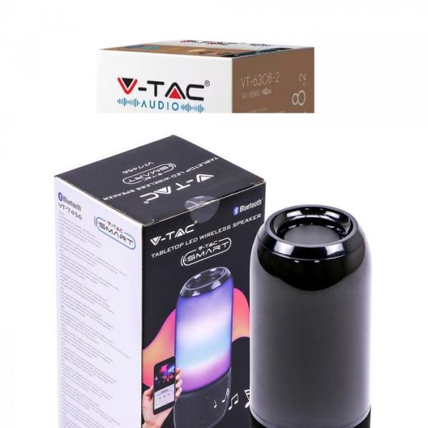LED RGB prijenosni Bluetooth zvučnik 2x3W, 1800 mAh, crni