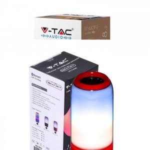 LED RGB prijenosni Bluetooth zvučnik 2x3W, 1800 mAh, crveni