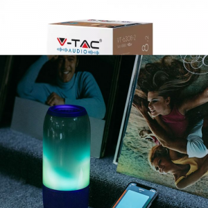 LED RGB prijenosni Bluetooth zvučnik 2x3W, 1800 mAh, plavi