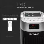 Podni ventilator s digitalnim zaslonom i daljinskim upravljačem 55W 3 brzine vrtnje 120cm crni 1