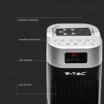Podni ventilator s digitalnim zaslonom i daljinskim upravljačem 55W 3 brzine vrtnje 120cm crni 2