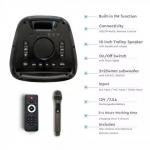 Punjivi zvučnik 100W s daljinskim upravljačem i mikrofonom TWS funkcija 2