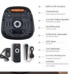 Punjivi zvučnik 35W s daljinskim upravljačem i mikrofonom TWS funkcija 2