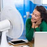 Stolni ventilator 40W 3 brzine vrtnje bijeli 410x260x510mm 1
