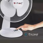 Stolni ventilator 40W 3 brzine vrtnje bijeli 410x260x510mm 3