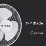 Stolni ventilator 40W 3 brzine vrtnje bijeli 410x260x510mm 4