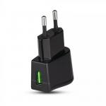 USB adapter za punjenje, blister - crni