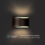 Zidna lampa 10W, Bridgelux čip 4000K – IP54, crna 2