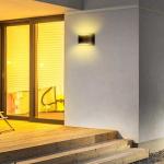 Zidna lampa 10W, Bridgelux čip 4000K – IP54, crna 4