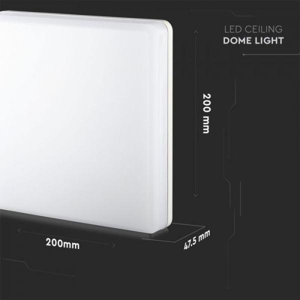 Stropna lampa 15W 4000K samsung čip IP44 četvrtasta 3 godine garancije