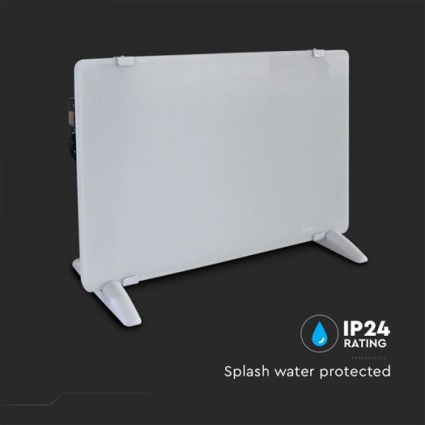 Električna grijalica 2000W sa staklenim panelom bijela